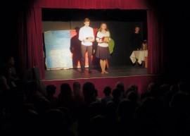 """""""Życie Dominika Savio"""" w wykonaniu młodych artystów z klasy 7B, według scenariusza i w reżyserii Filipa Sankowskiego."""