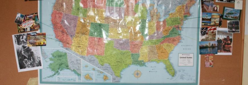 Mapa pochodzenia tegorocznych wolontariuszy